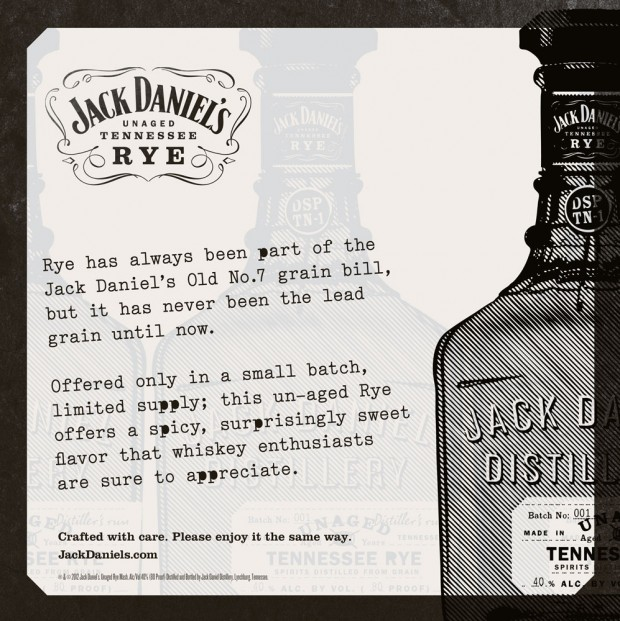 Jack Daniel's Unaged Rye POS