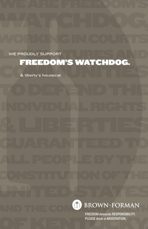 ACLU Print Ad