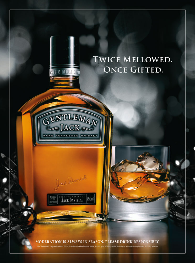 Gentleman Jack Holiday Print Ad - Kate Stites