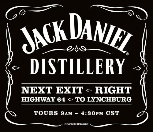 Jack Daniel's Distillery Sign