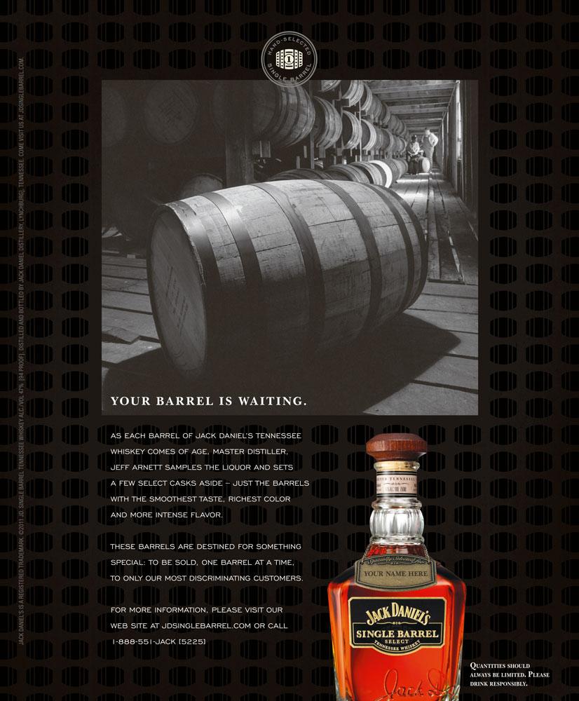 Jack Daniel S Buy The Barrel Print Ad Kate Stites