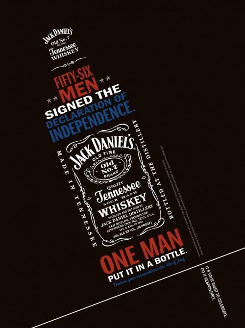 Jack Daniel's Independence Print Ad