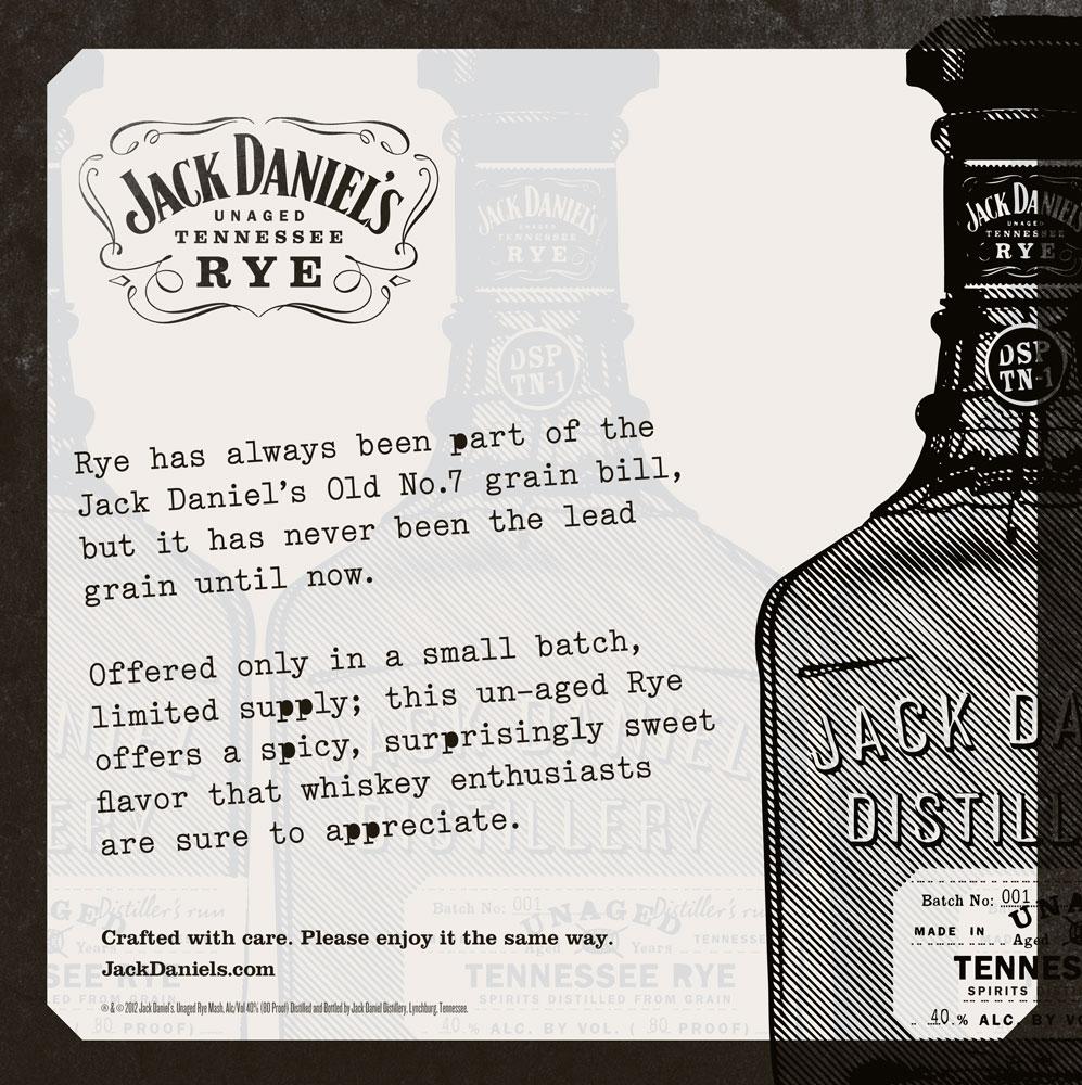 Jack Daniel's Unaged Rye POS - Kate Stites