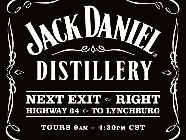 Jack Daniel Distillery Sign
