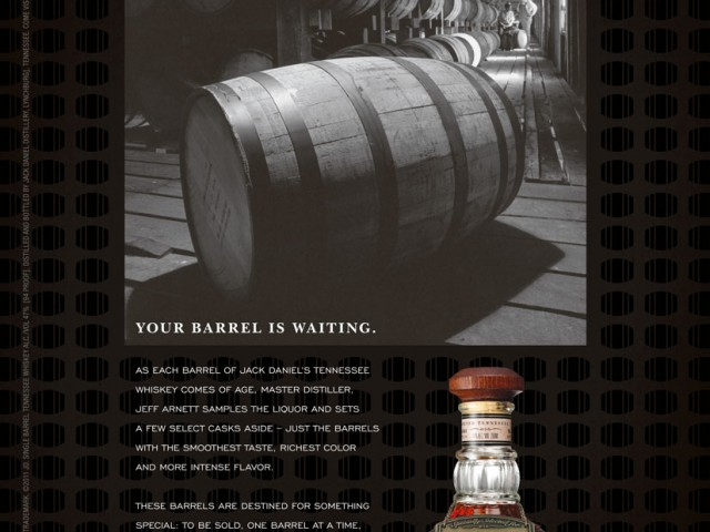 Jack Daniel's Buy the Barrel Print Ad