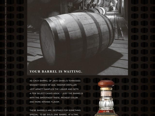 Jack Daniel's Buy the Barrel Print Ad