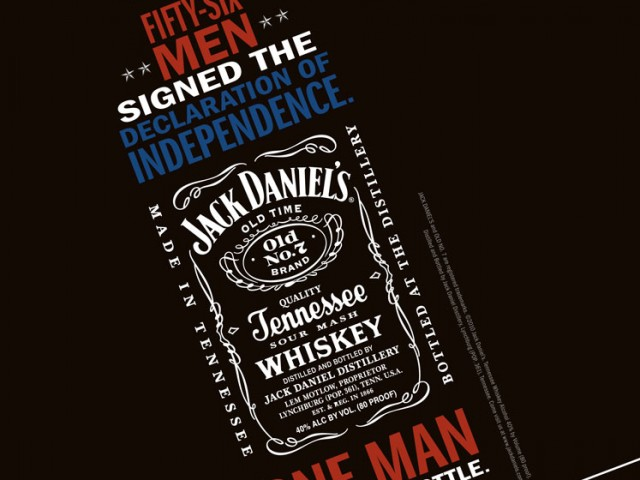 Jack Daniel's Independence Print Ad