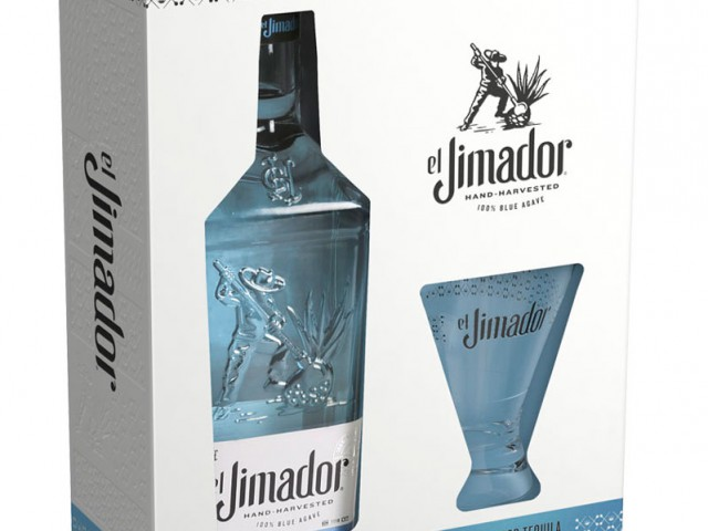 el Jimador Silver Gift Box with Margarita Glass
