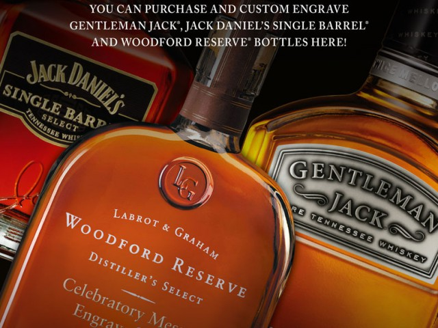 Bottle Engraving Promotional Poster