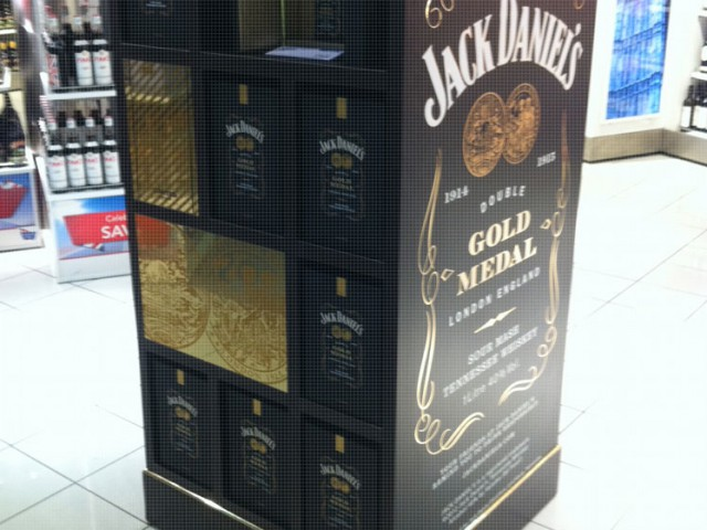 Jack Daniel's Double Gold United Kingdom Display